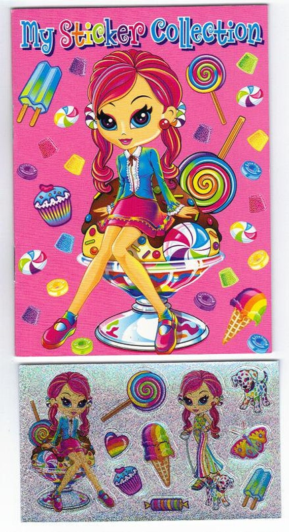 Lisa Frank My Sticker Collection Mini Album Book  with Stickers SWEETS