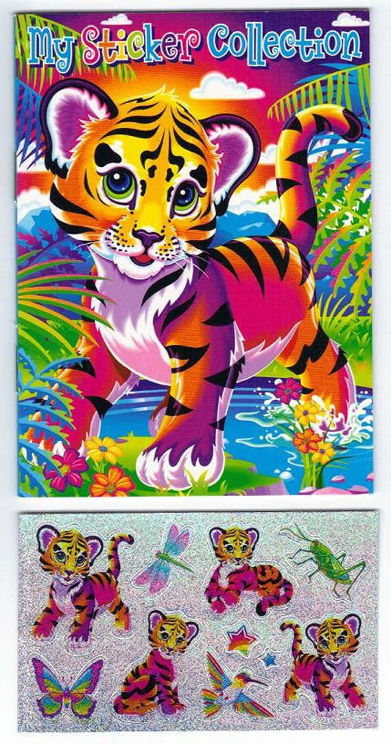 lisa frank my sticker collection mini album book with