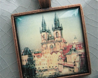 Prague Pendant - Wearable Photo Art
