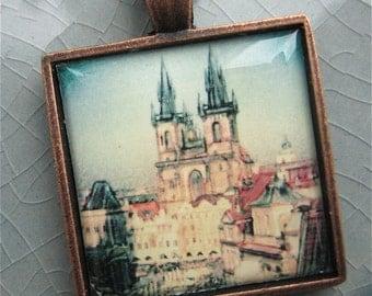 Prague Pendant - Wearable Photo Art
