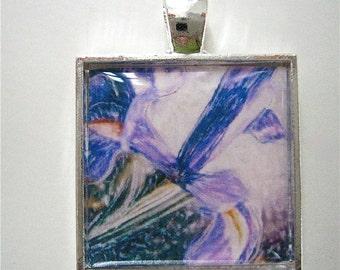 Iris Pendant - - Flower Pendant