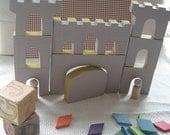 Kids Wooden Toy, Castle Blocks / Waldorf