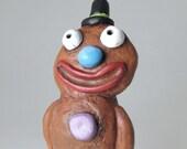 Paper Mache Art Sculpture - Gingerbread Man
