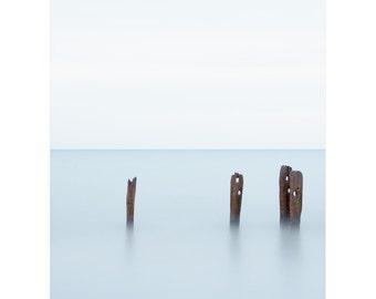 Nautical Photography - Minimal Nautical Photograph - Nautical Decor - Large Seascape Photography - Nautical Pier - Lake Erie Photography