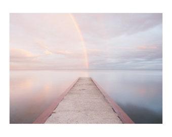 Rainbow Art - Inspiring Art - Nature Photography - Landscape Photography - Rainbow Beach Art - Zen Wall Art - Lake Ontario - Toronto Beaches