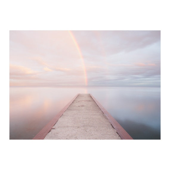 Rainbow Art - Inspiring Art - Nature Photography - Landscape Photography - Rainbow Beach Art - Zen Wall Art - Lake Ontario - Toronto Beaches