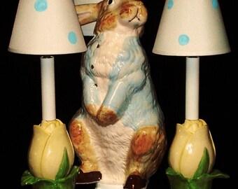 Nursery Chandelier - Peter Rabbit Decor - Child's Room Lighting