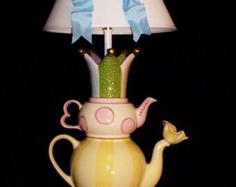 Tea Party Teapot Lamp