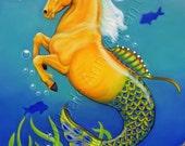 Seahorse ACEO Horse Mermaid Ocean Art Print Sea Stallion