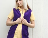 Purple Hippie Vest Ultimate Soft Plum Purple - Small - Like Zoinks Shaggy Costume