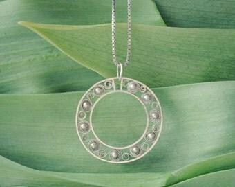 Buttercups - Icelandic Silver Filigree Necklace