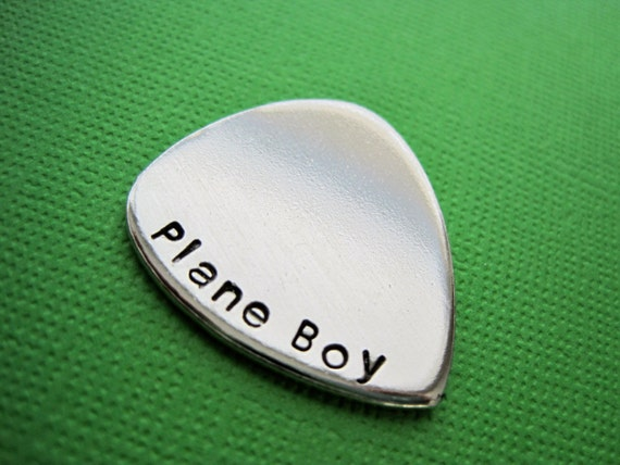 Personalized Guitar Pick - Customize it - Hand Stamped Accessory - Keepsake Token