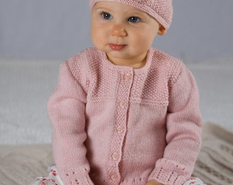 Abigail Cardi and Hat - Baby Cakes by lisaFdesign - Download Now - Pattern PDF