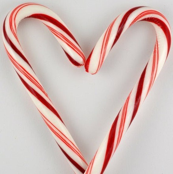 Items similar to candy cane heart note card on etsy