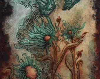 Giclee Print Wind Riders Art Nouveau Style Fantasy by Rebecca Salcedo FFAW