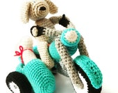 Motorcycle & Dog Crochet  Amigurumi Pattern