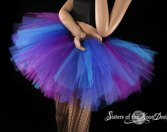 Butterfly tutu skirt purple and blue adult petticoat princess party race run costume dance ballet  - You Choose Size - Sisters of the Moon