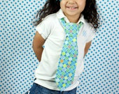 Girl and Boy Necktie Argyle pre-tied necktie 12 and 14 iches long ages 4 to 9 years old
