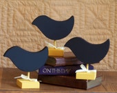 Chalkboard Table Marker Signs, Wedding, Bridal, Reception Celebration Wooden Small Love birds Set of Three, Party Decor Chalkboards