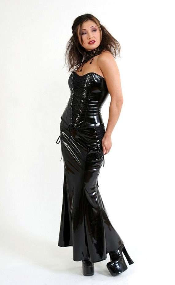 Black PVC and Lace Mermaid Skirt-Made to Measure