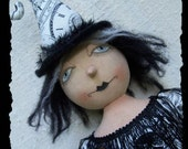 Abracadabra, A Primitive, Folk Art, GHOST, Witch, Topsy, Turvey, Doll, E Pattern