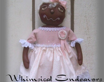 Ginger, A Primitive, Folk Art, Shabby, Gingerbread, Doll, E Pattern