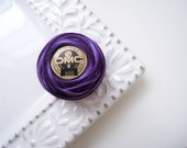 DMC Perle Cotton Thread Size 8 Variegated Dark Violet 102 Lilac, Lavender, Purple , Amethyst