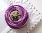 DMC Perle Cotton Thread Size 8 Variegated Purple 95