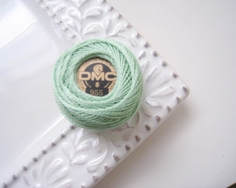 DMC Perle Cotton Thread Size 8 Nile Green 955