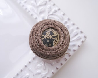 DMC 640 Very Dark Beige Gray Perle Cotton Thread Size 8