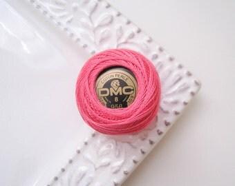 DMC Perle Cotton Thread Size 8 Geranium Pink 956