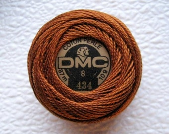 DMC Perle Cotton Thread Size 8 Light Brown 434