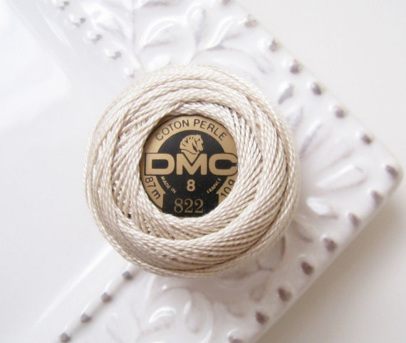DMC Perle Cotton Thread Size 8 Light Beige Gray 822