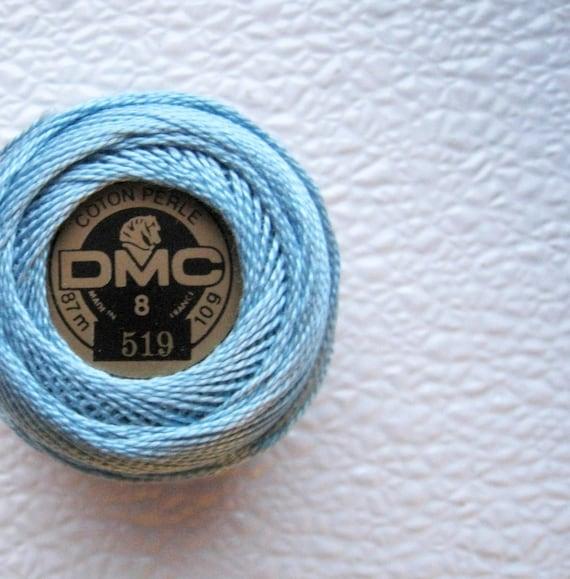 DMC Perle Cotton Thread Size 8  Sky Blue 519