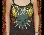 Bullet For My Valentine shirt metal tank top alternative clothing reconstructed apparel scene emo altered band tee t-shirt