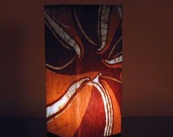 Batik Accent Lamp (Cocoa Vortex)