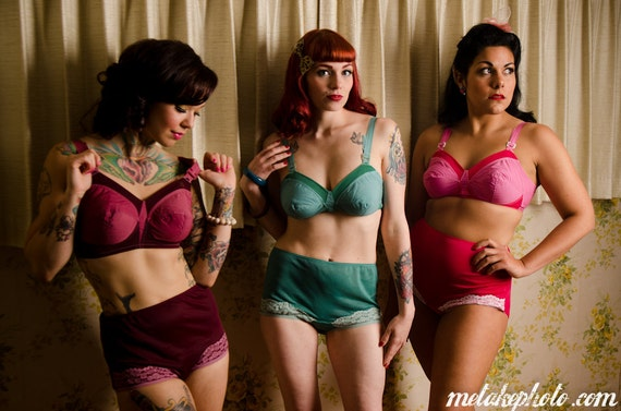 50s Style Bullet Bra - Hand Dyed - Any Size - MADE To Order