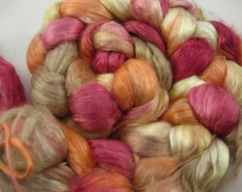 Mulberry Silk Brick for Spinning-Hand Painted-2 Ounces