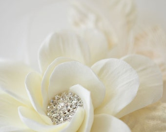 Couture Clay - Made to Order Vintage Inspired Gardenia Hair Flower