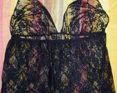 Belly Cover bellydance fancy floral stretch lycra lace SCA gypsy ATS tribal fusion washable 12 sizes black