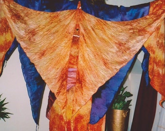copper SilK Fairy WINGS tribal fusion Belly Dance faerie ATS gypsy fantasy costume 14 colors washable child size to adult sizes