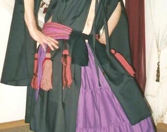 Ghawazee COAT tribal belly dance SCA ats renaissance its costume ats its 8 cotton colors 7 sizes split sleeve