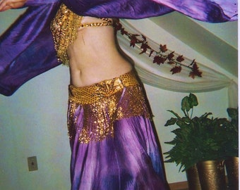 Washable Silk satin charmeuse Circle SKIRT belly dance renaissance costume SCA gypsy 13 colors sm-XL