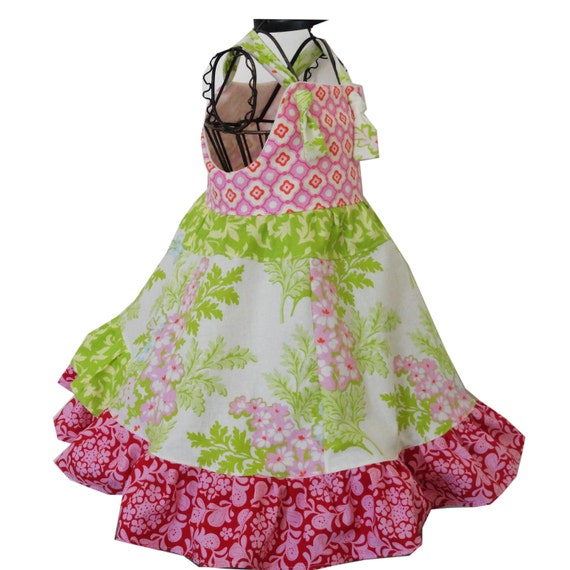 Girls Dress Strawberry Garden Dress Ready to Ship size 10