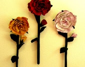 Primitive Flowers, Rose, Wall Hanging, Large Flowers, Pdf Pattern