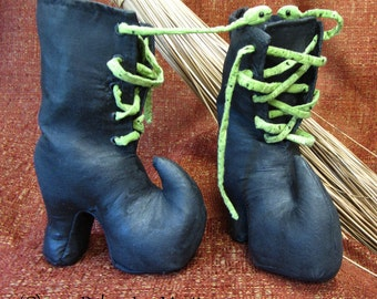 Primitive PDF Pattern, Witch Boots, Snake, Sewing Pattern