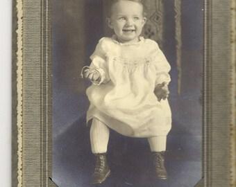 Original Antique Photograph - Pawnee, Okla Young Toddler PSS 1429