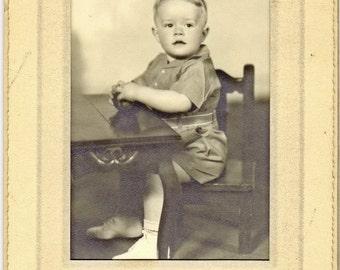 Blonde Headed Boy Antique Photograph PSS 1526