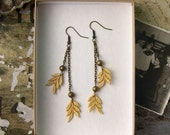 yellow earrings,  DAVINA , lace earrings, dangle earrings, long earrings,  festival,  boho, unique jewelry