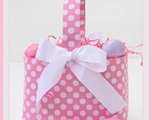 Easter Basket Boutique Pink Polka Dot